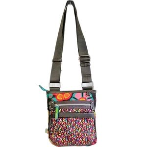 Lily Bloom Crossbody Bag Floral Flowers Recycled
